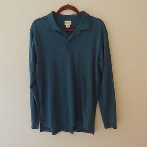Dark Turquoise LL Bean Pima Cotton Polo